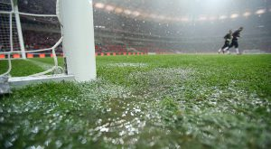 Warsaw Pitch before England game in World Cup Qualifying