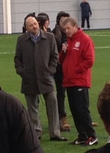 Roy Hodgson with Mark Clemmit