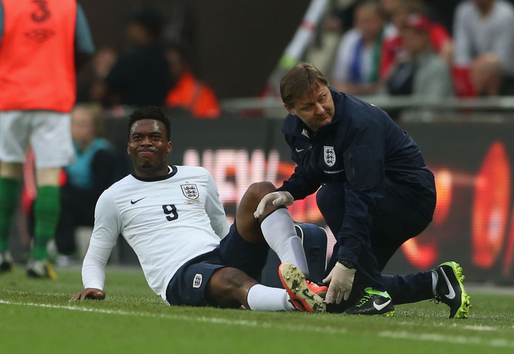 Daniel Sturridge England Injury